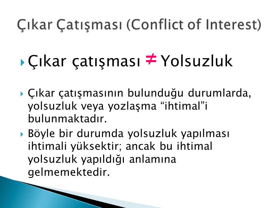 Çıkar Çatışması (Conflict of Interest)