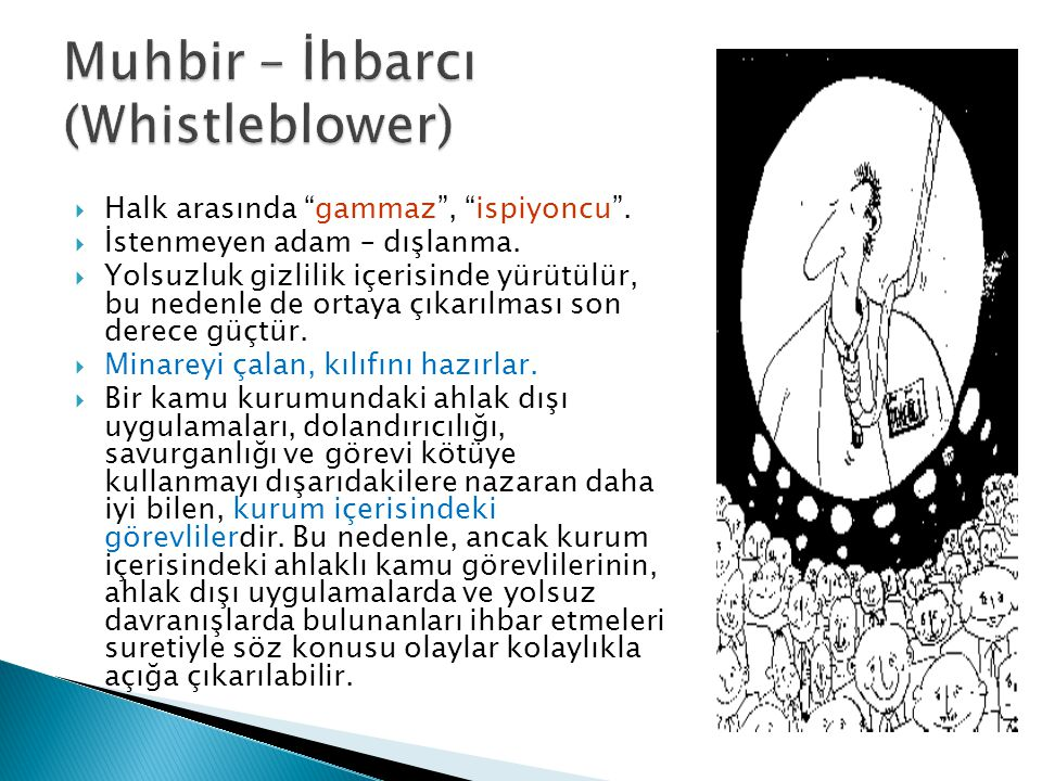 Muhbir – İhbarcı (Whistleblower)