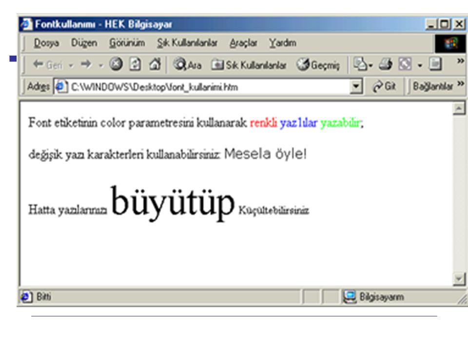 HTML Internet Programcılığı -1 Dersi