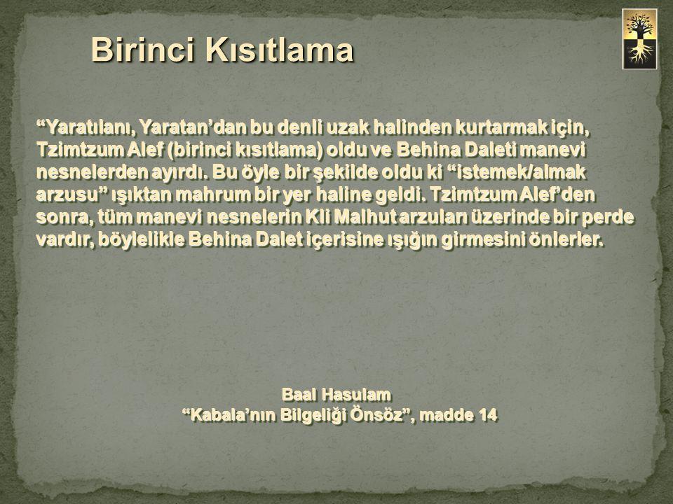 Baal Hasulam Kabala'nın Bilgeliği Önsöz , madde 14