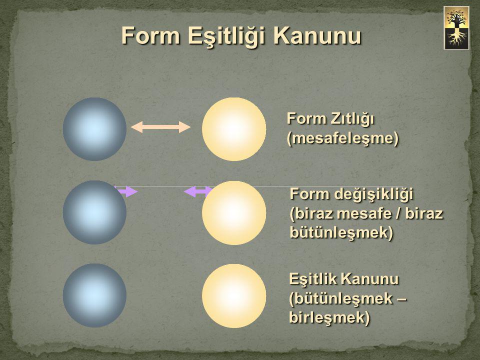 Form Eşitliği Kanunu Form Zıtlığı (mesafeleşme)