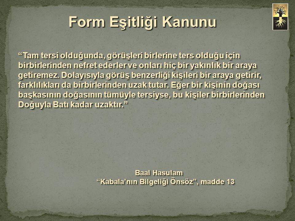 Baal Hasulam Kabala'nın Bilgeliği Önsöz , madde 13