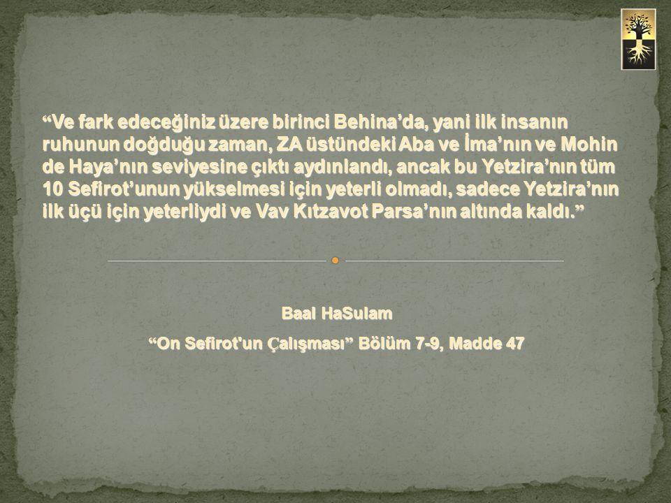 On Sefirot un Çalışması Bölüm 7-9, Madde 47