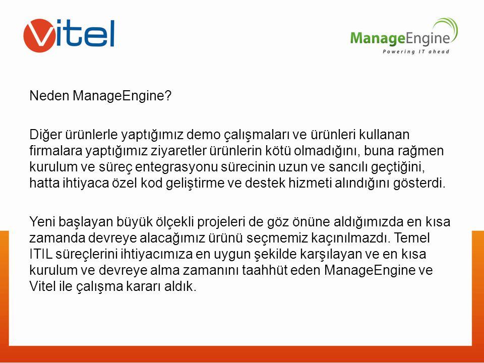 Neden ManageEngine.
