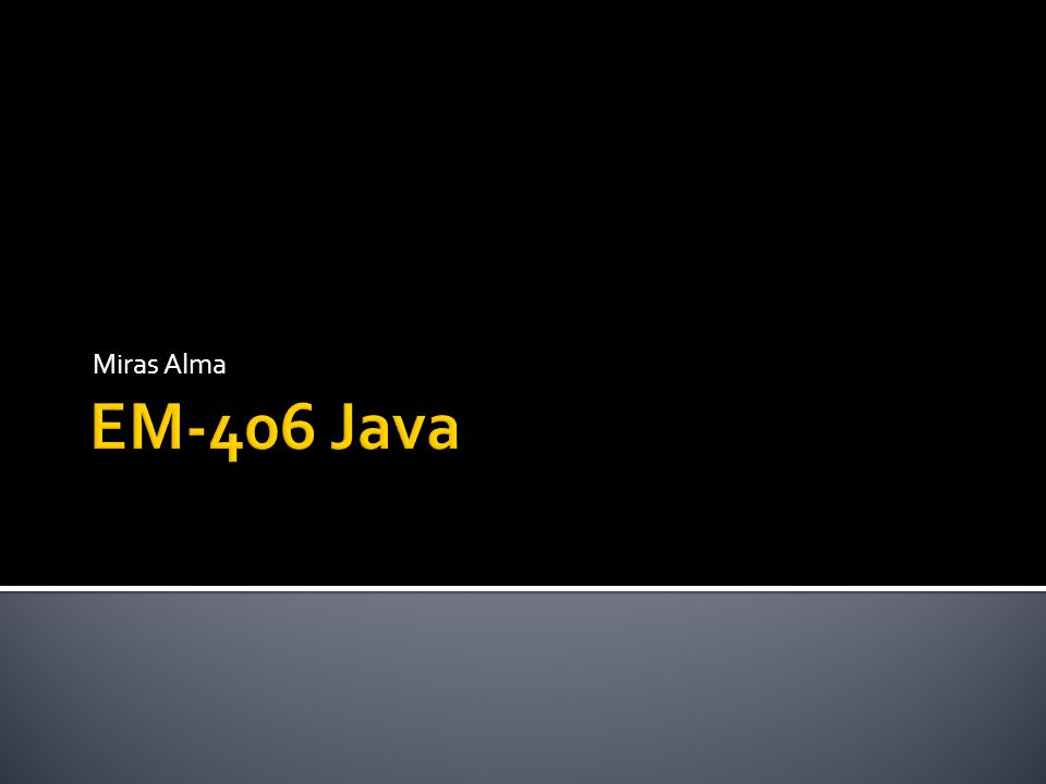 Miras Alma EM-406 Java