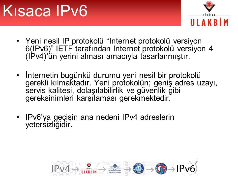 Kısaca IPv6