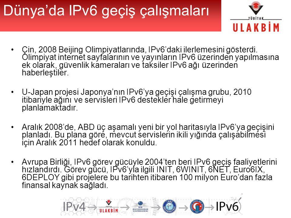 Dünya'da IPv6 geçiş çalışmaları