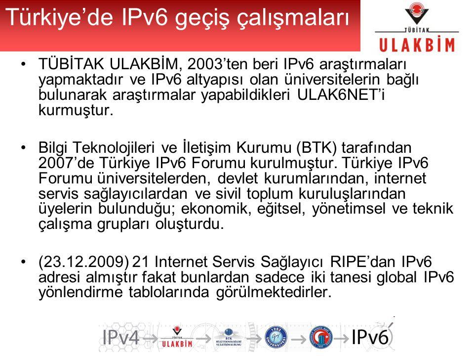Türkiye'de IPv6 geçiş çalışmaları