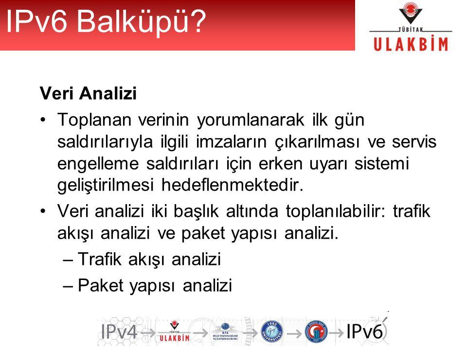 IPv6 Balküpü Veri Analizi
