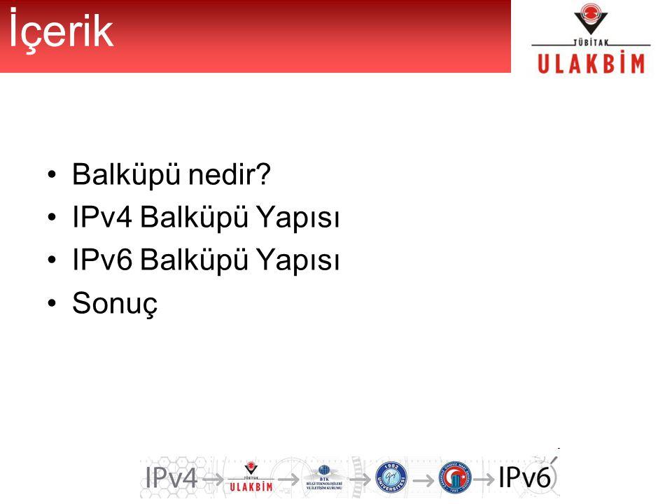 İçerik Balküpü nedir IPv4 Balküpü Yapısı IPv6 Balküpü Yapısı Sonuç
