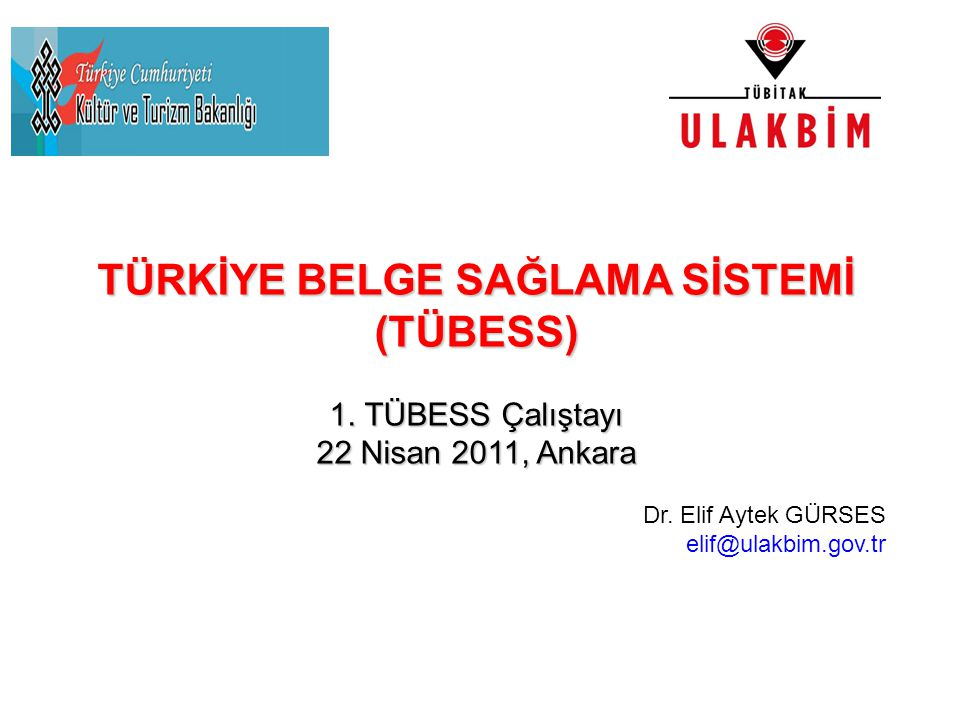 TÜRKİYE BELGE SAĞLAMA SİSTEMİ (TÜBESS)