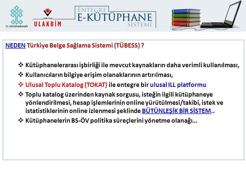 NEDEN Türkiye Belge Sağlama Sistemi (TÜBESS)