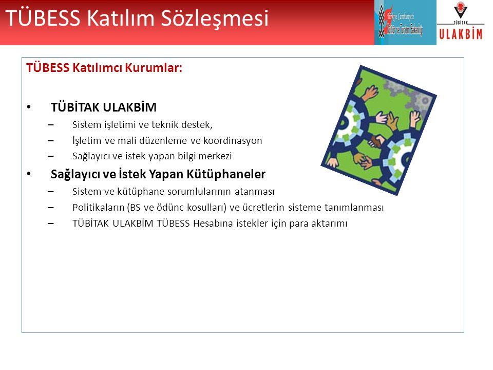 TÜBESS Katılım Sözleşmesi