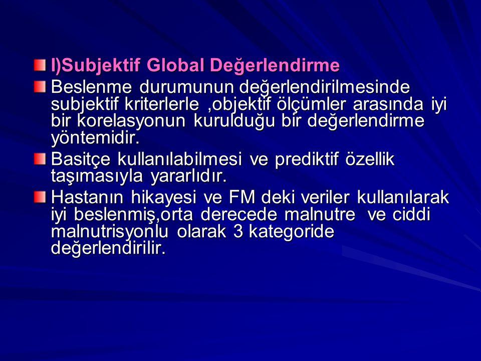 I)Subjektif Global Değerlendirme