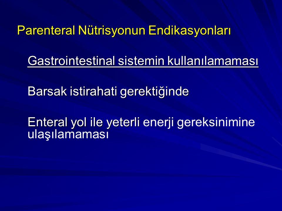 Parenteral Nütrisyonun Endikasyonları