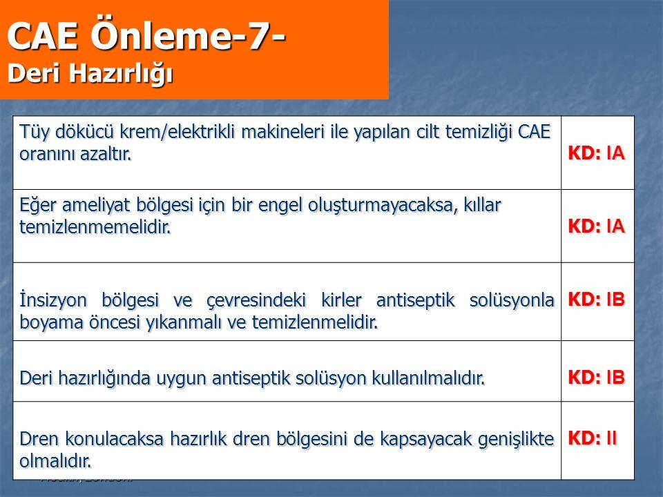 CAE Önleme-7- Deri Hazırlığı