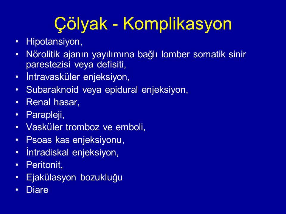Çölyak - Komplikasyon Hipotansiyon,
