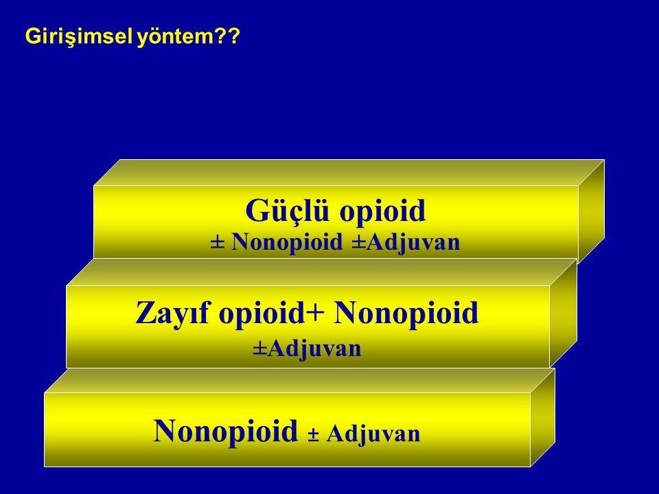 Zayıf opioid+ Nonopioid