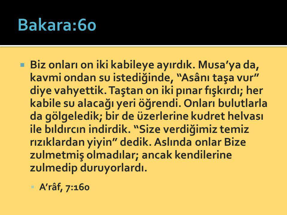 Bakara:60