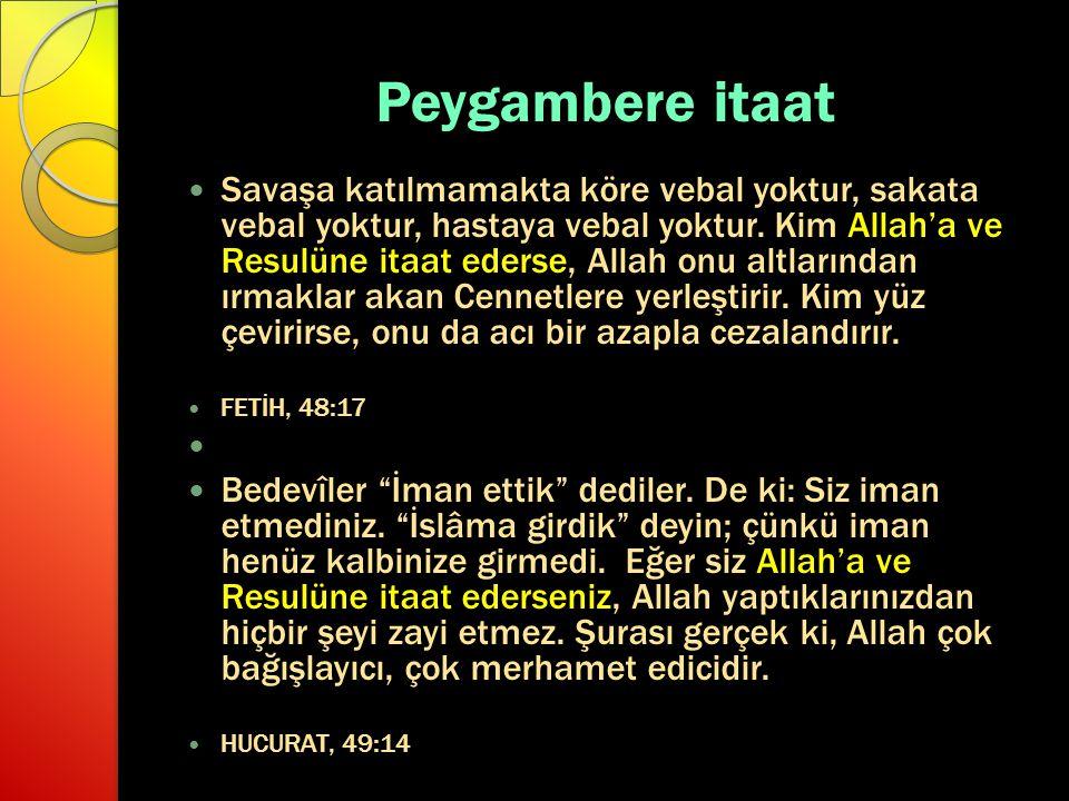 Peygambere itaat
