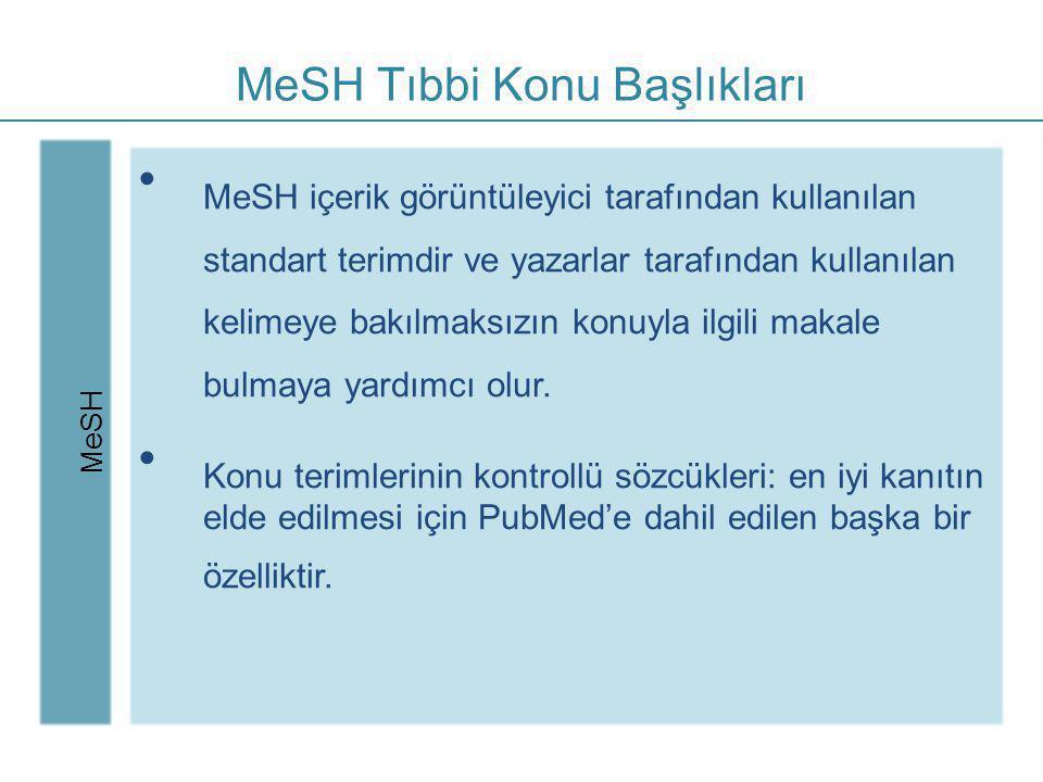 MeSH Tıbbi Konu Başlıkları