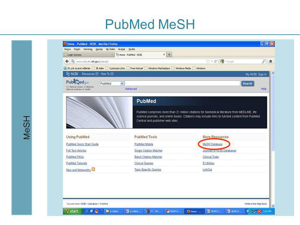 PubMed MeSH MeSH