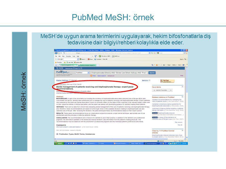 PubMed MeSH: örnek MeSH: örnek