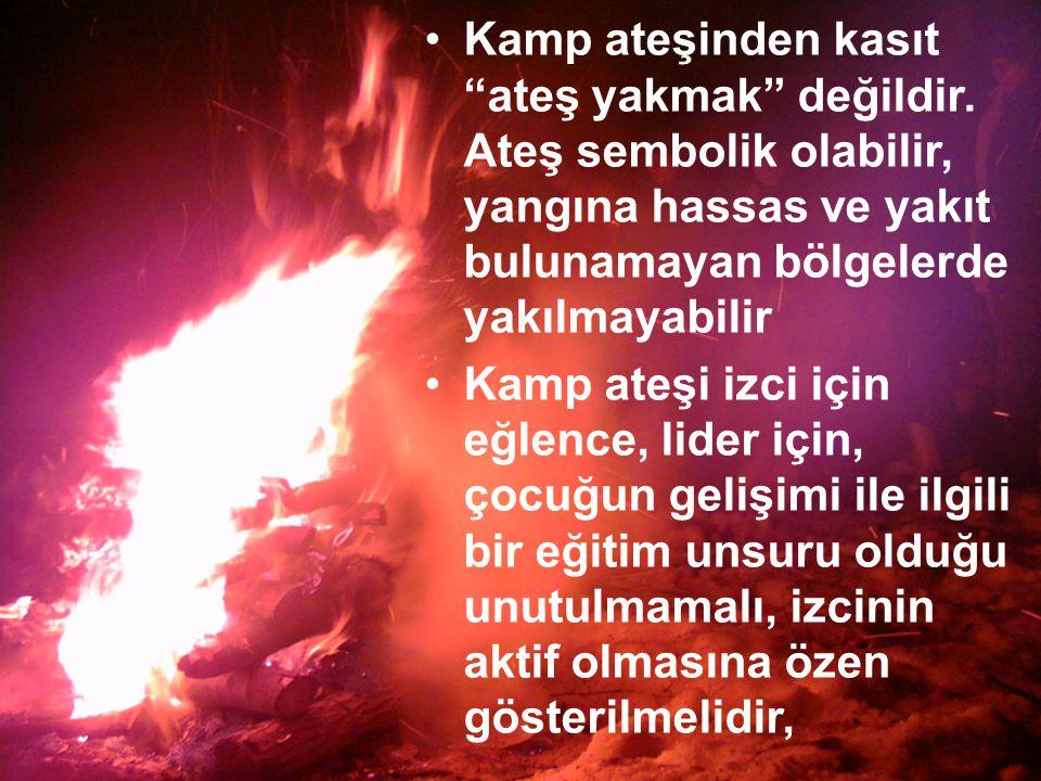 Kamp ateşinden kasıt ateş yakmak değildir