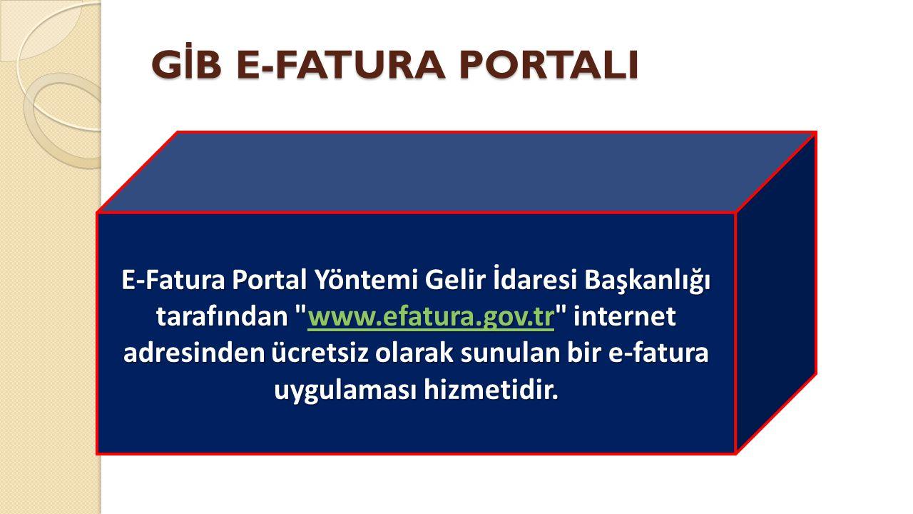 GİB E-FATURA PORTALI