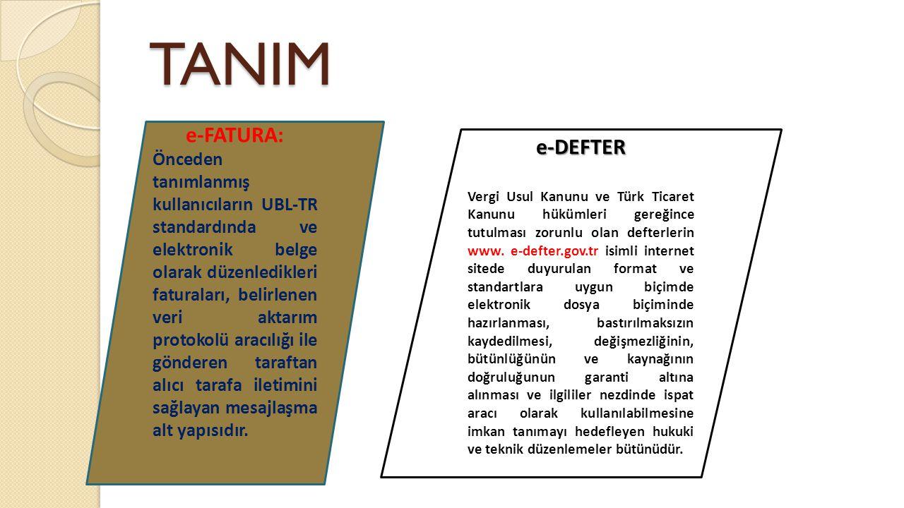 TANIM e-FATURA: e-DEFTER