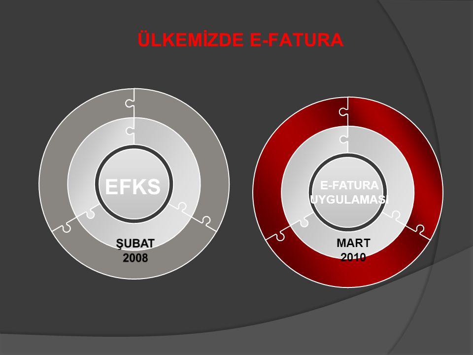 ÜLKEMİZDE E-FATURA EFKS E-FATURA UYGULAMASI ŞUBAT 2008 MART 2010