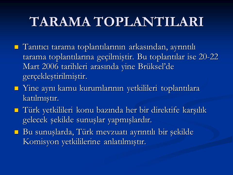 TARAMA TOPLANTILARI