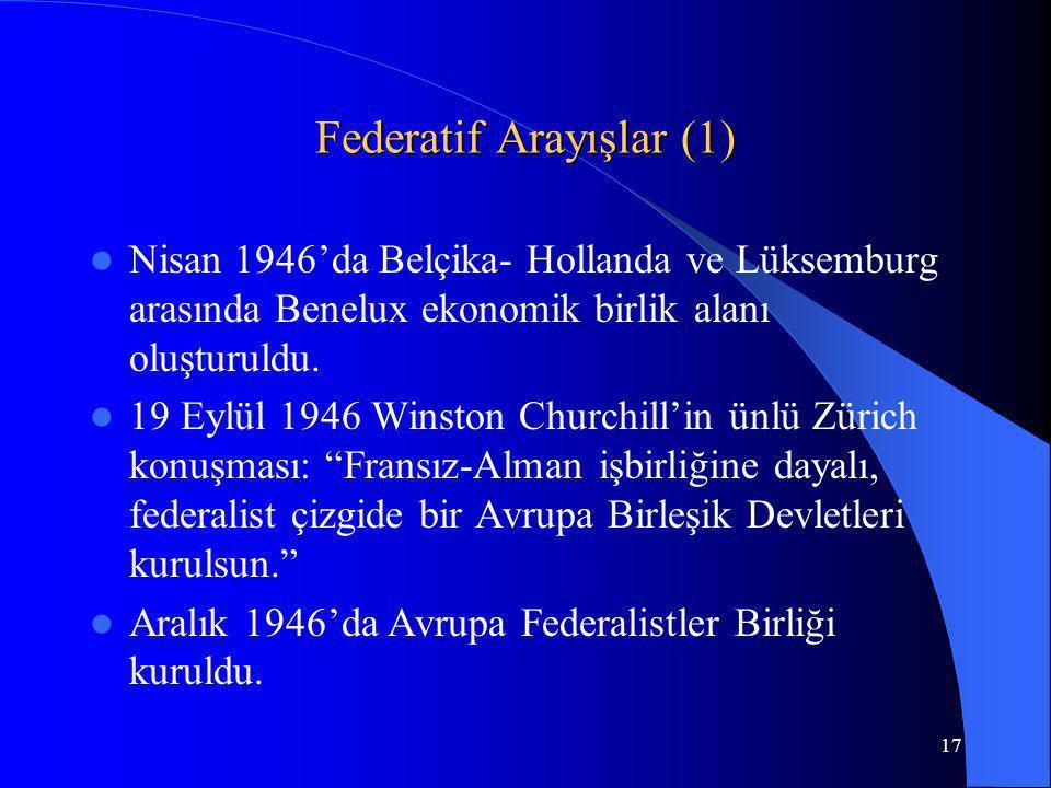 Federatif Arayışlar (1)