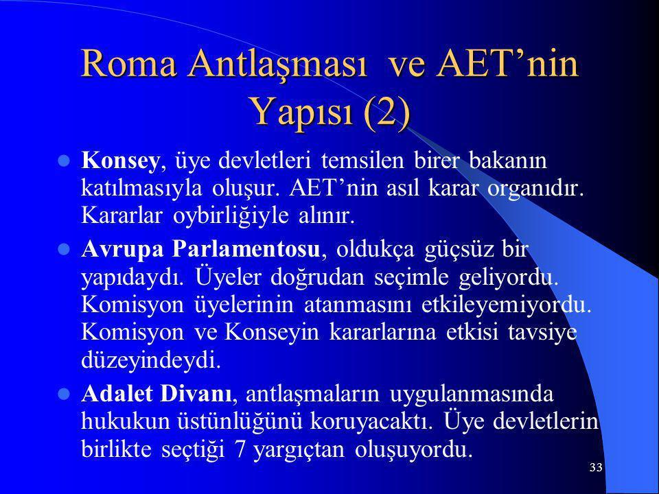 Roma Antlaşması ve AET'nin Yapısı (2)