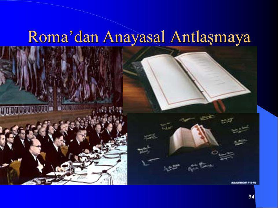 Roma'dan Anayasal Antlaşmaya