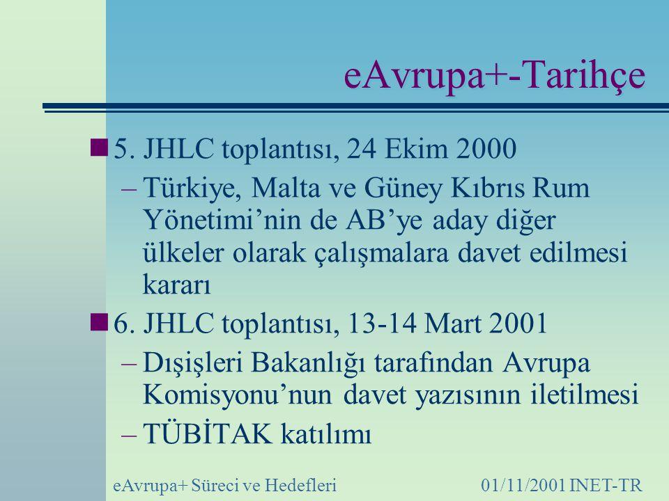 eAvrupa+-Tarihçe 5. JHLC toplantısı, 24 Ekim 2000