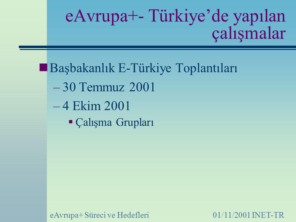 eAvrupa+- Türkiye'de yapılan çalışmalar