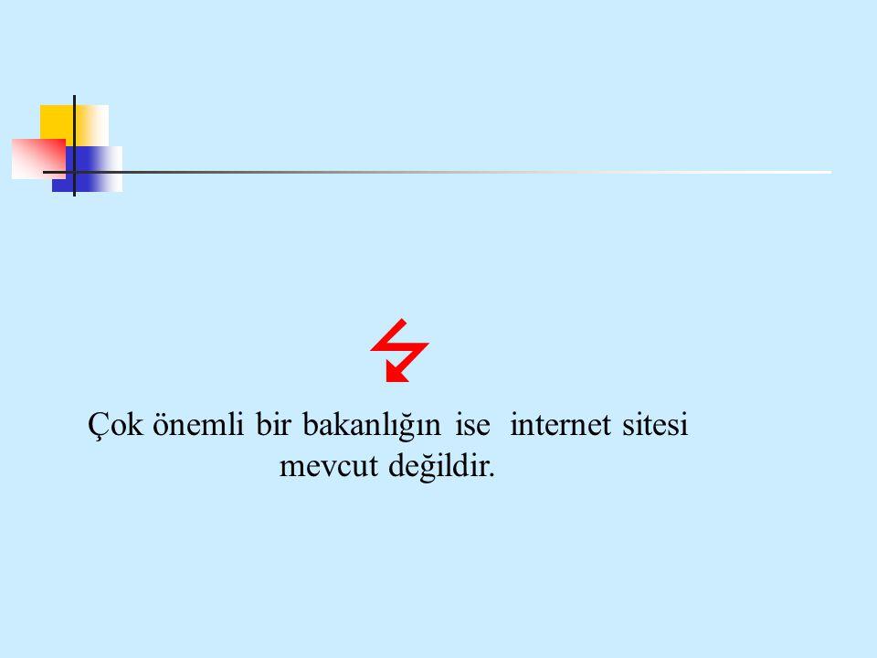 Çok önemli bir bakanlığın ise internet sitesi mevcut değildir.