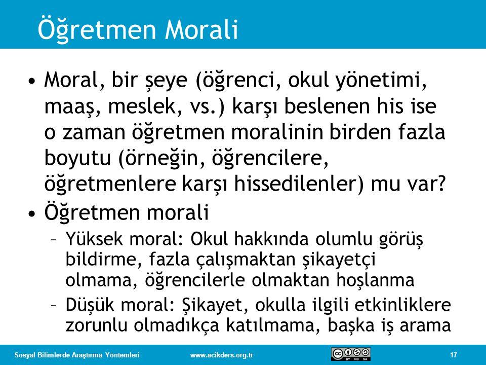 Öğretmen Morali