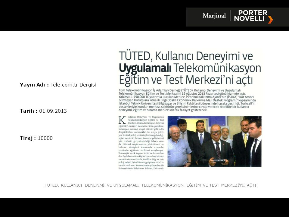 Yayın Adı : Tele.com.tr Dergisi
