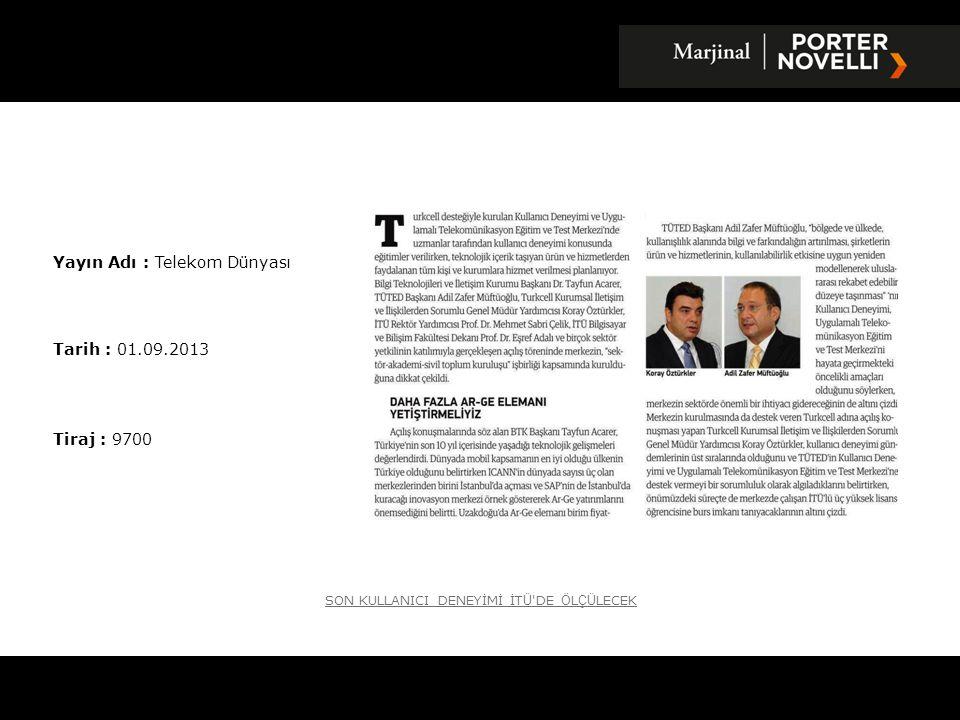 Yayın Adı : Telekom Dünyası