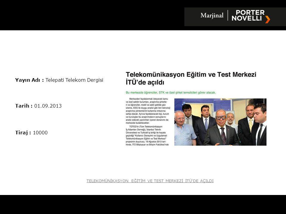 Yayın Adı : Telepati Telekom Dergisi