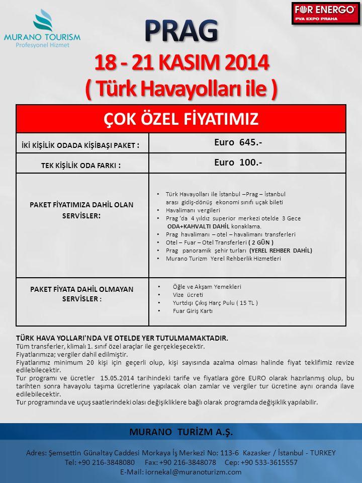 PRAG 18 - 21 KASIM 2014 ( Türk Havayolları ile )
