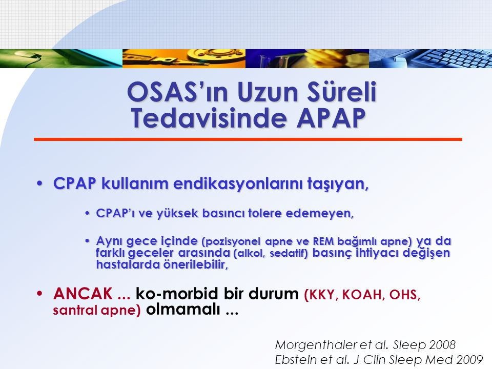 Tedavisinde APAP OSAS'ın Uzun Süreli