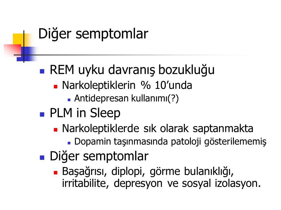 Diğer semptomlar REM uyku davranış bozukluğu PLM in Sleep
