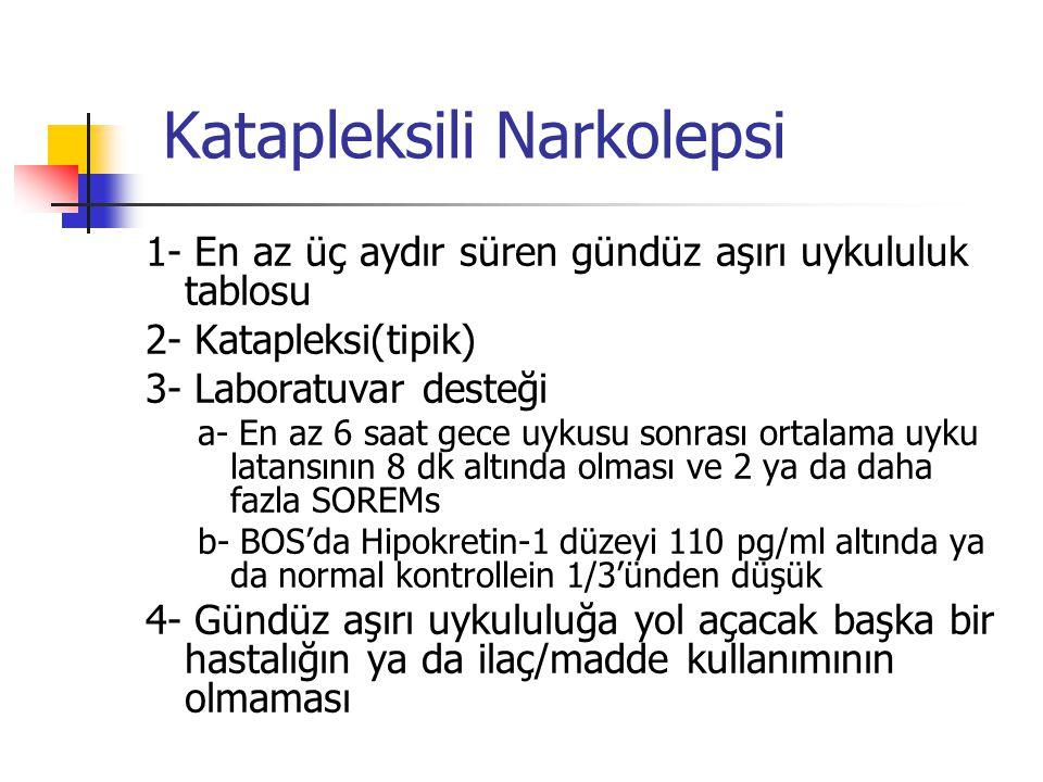 Katapleksili Narkolepsi