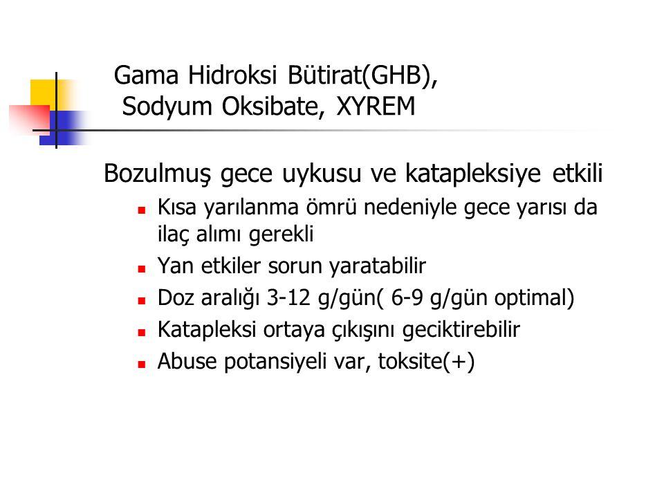 Gama Hidroksi Bütirat(GHB), Sodyum Oksibate, XYREM