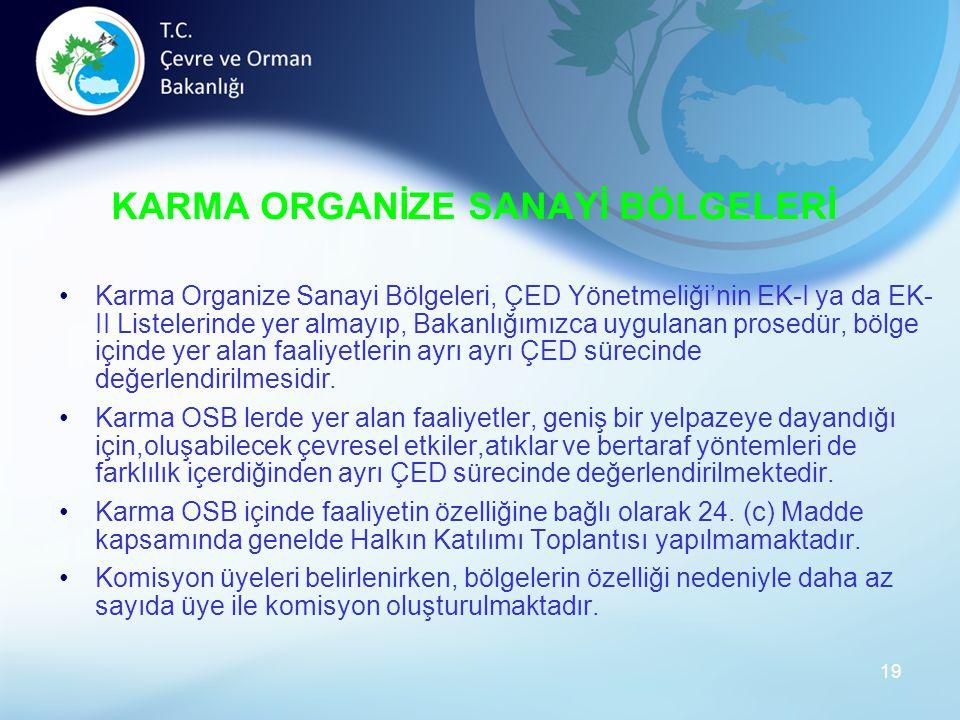 KARMA ORGANİZE SANAYİ BÖLGELERİ