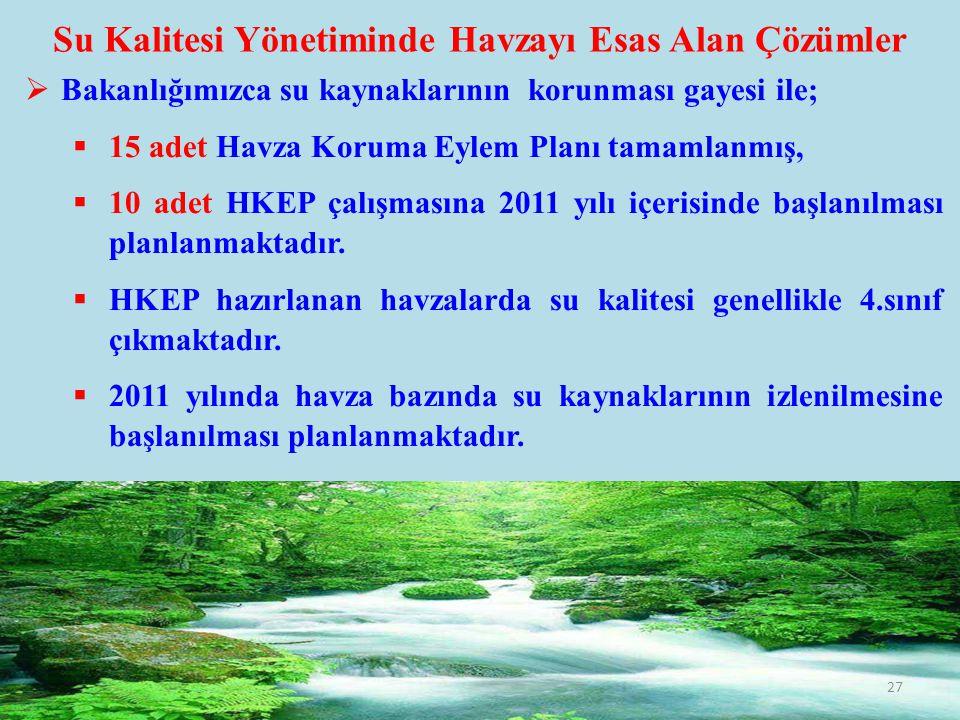 Su Kalitesi Yönetiminde Havzayı Esas Alan Çözümler