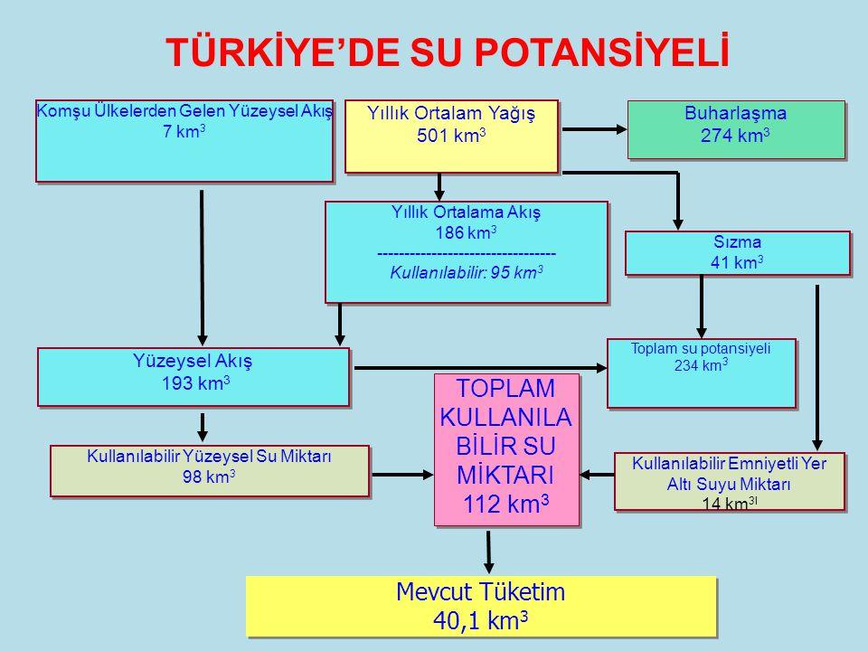 TÜRKİYE'DE SU POTANSİYELİ